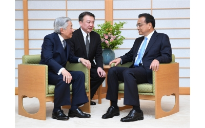 Li, Akihito expect bilateral exchanges to boost Sino-Japan ties
